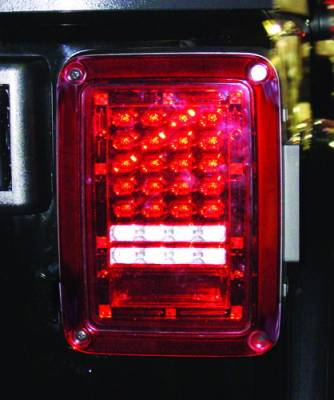 Headlights & Tail Lights - LED Tail Lights - In Pro Carwear - Jeep Wrangler IPCW Taillights - LED - 1 Pair - LEDT-420CR