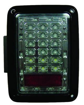 Headlights & Tail Lights - LED Tail Lights - In Pro Carwear - Jeep Wrangler IPCW Taillights - LED - 1 Pair - LEDT-420CS