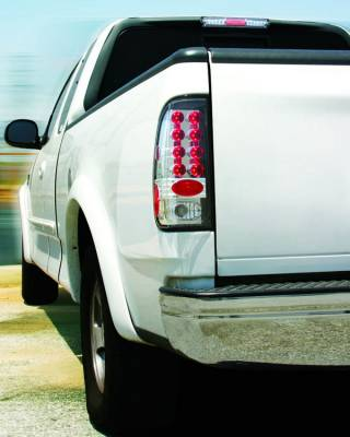 Headlights & Tail Lights - LED Tail Lights - In Pro Carwear - Ford Superduty IPCW Taillights - LED - 1 Pair - LEDT-501C