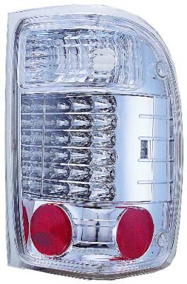 Headlights & Tail Lights - LED Tail Lights - In Pro Carwear - Ford Ranger IPCW Taillights - 3 holes - 1 Pair - LEDT-506C2