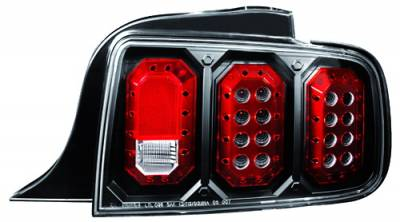 Headlights & Tail Lights - Led Tail Lights - In Pro Carwear - Ford Mustang IPCW Taillights - LED - 1 Pair - LEDT-522CB