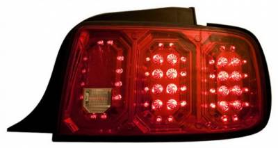Headlights & Tail Lights - Led Tail Lights - In Pro Carwear - Ford Mustang IPCW Taillights - LED - 1 Pair - LEDT-522CR