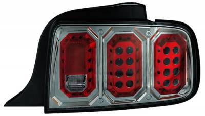 Headlights & Tail Lights - Led Tail Lights - In Pro Carwear - Ford Mustang IPCW Taillights - LED - 1 Pair - LEDT-522CS