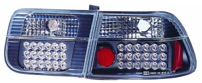 Headlights & Tail Lights - Led Tail Lights - In Pro Carwear - Honda Civic 2DR IPCW Taillights - LED - 1 Pair - LEDT-729B2
