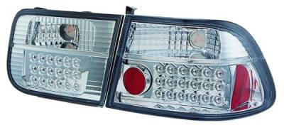 Headlights & Tail Lights - Led Tail Lights - In Pro Carwear - Honda Civic 2DR IPCW Taillights - LED - 1 Pair - LEDT-729C2