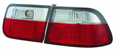 Headlights & Tail Lights - Led Tail Lights - In Pro Carwear - Honda Civic 2DR IPCW Taillights - LED - 1 Pair - LEDT-729R2