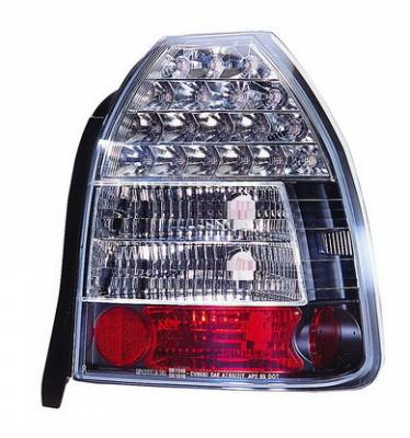 Headlights & Tail Lights - Led Tail Lights - In Pro Carwear - Honda Civic HB IPCW Taillights - LED - 1 Pair - LEDT-730B2
