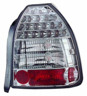 Headlights & Tail Lights - Led Tail Lights - In Pro Carwear - Honda Civic HB IPCW Taillights - LED - 1 Pair - LEDT-730C2