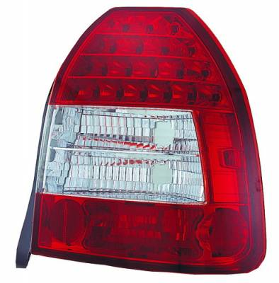 Headlights & Tail Lights - Led Tail Lights - In Pro Carwear - Honda Civic HB IPCW Taillights - LED - 1 Pair - LEDT-730R2