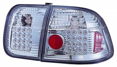 Headlights & Tail Lights - Led Tail Lights - In Pro Carwear - Honda Civic 4DR IPCW Taillights - LED - 1 Pair - LEDT-732C2