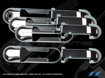 Suv Truck Accessories - Chrome Billet Door Handles - SES Trim - Ford Explorer SES Trim ABS Chrome Door Handles - DH101