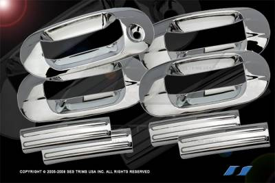 SUV Truck Accessories - Chrome Billet Door Handles - SES Trim - Lincoln Navigator SES Trim ABS Chrome Door Handles - DH102