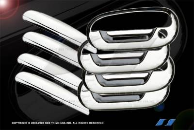 Suv Truck Accessories - Chrome Billet Door Handles - SES Trim - Lincoln Blackwood SES Trim ABS Chrome Door Handles - with Keypad - 6PC - DH104