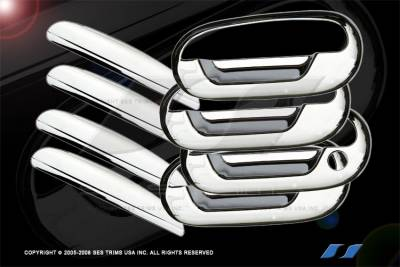 SUV Truck Accessories - Chrome Billet Door Handles - SES Trim - Lincoln Navigator SES Trim ABS Chrome Door Handles - DH105