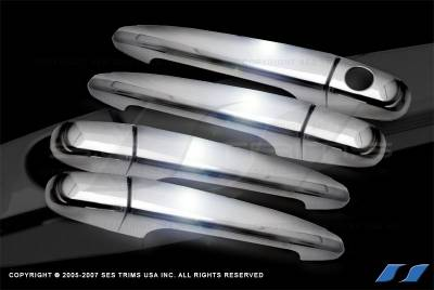 Suv Truck Accessories - Chrome Billet Door Handles - SES Trim - Toyota Tacoma SES Trim ABS Chrome Door Handles - DH106-4
