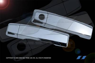 Suv Truck Accessories - Chrome Billet Door Handles - SES Trim - Nissan Armada SES Trim ABS Chrome Door Handles - DH112