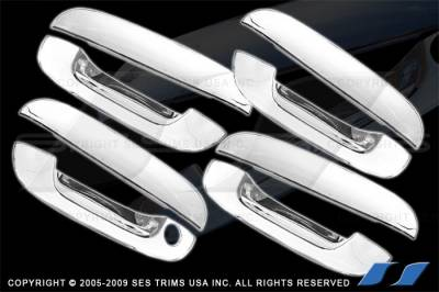 Suv Truck Accessories - Chrome Billet Door Handles - SES Trim - GMC Envoy SES Trim ABS Chrome Door Handles - DH113