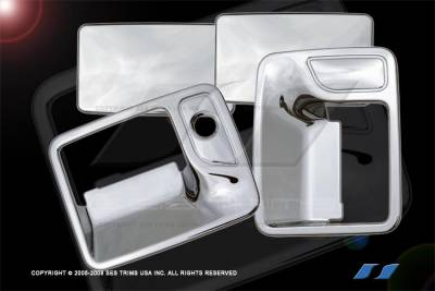 Suv Truck Accessories - Chrome Billet Door Handles - SES Trim - Ford F250 SES Trim ABS Chrome Door Handles - DH113-2