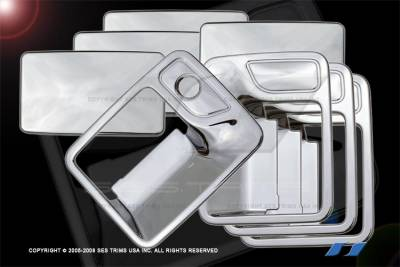 Suv Truck Accessories - Chrome Billet Door Handles - SES Trim - Ford F250 SES Trim ABS Chrome Door Handles - DH113-4