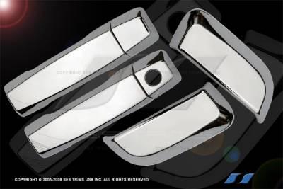 Suv Truck Accessories - Chrome Billet Door Handles - SES Trim - Nissan Armada SES Trim ABS Chrome Door Handles - DH115