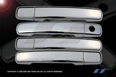 Suv Truck Accessories - Chrome Billet Door Handles - SES Trim - Nissan Frontier SES Trim ABS Chrome Door Handles - without Smart Key - DH117