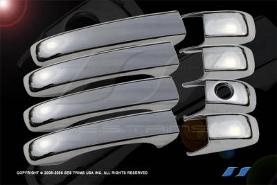 Suv Truck Accessories - Chrome Billet Door Handles - SES Trim - Jeep Patriot SES Trim ABS Chrome Door Handles - DH125