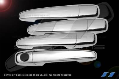 Suv Truck Accessories - Chrome Billet Door Handles - SES Trim - Ford Edge SES Trim ABS Chrome Door Handles - DH127