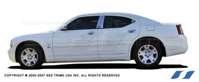 Charger - Body Kit Accessories - SES Trim - Dodge Charger SES Trim ABS Chrome Door Handles - DH135