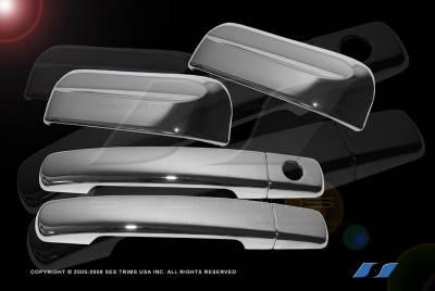 Suv Truck Accessories - Chrome Billet Door Handles - SES Trim - Nissan Xterra SES Trim ABS Chrome Door Handles - DH157