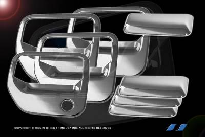 Suv Truck Accessories - Chrome Billet Door Handles - SES Trim - Honda Ridgeline SES Trim ABS Chrome Door Handles - DH158