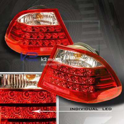 Headlights & Tail Lights - Led Tail Lights - K2 - E46 LED Tail - RED