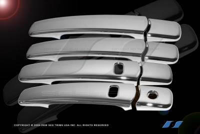 Suv Truck Accessories - Chrome Billet Door Handles - SES Trim - Nissan Rogue SES Trim ABS Chrome Door Handles - with Smart Key - DH163