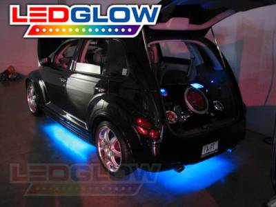 LEDGLOW - BLUE Wireless remote LED under car kit