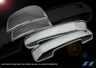 Suv Truck Accessories - Chrome Billet Door Handles - SES Trim - Toyota Tundra SES Trim ABS Chrome Door Handles - 6PC - DH177D