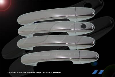 Suv Truck Accessories - Chrome Billet Door Handles - SES Trim - Hyundai Santa Fe SES Trim ABS Chrome Door Handles - DH511