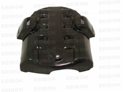 Accessories - Engine Dress Up - Seibon - BMW 5 Series Seibon Carbon Fiber Engine Cover - EC0407BMWE60