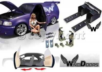 Factory OEM Auto Parts - Lambo Doors And Handles - OEM - Wingdoor Conversion Kit