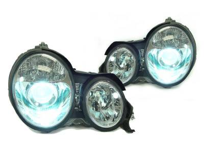 Headlights & Tail Lights - Headlights - Euro - Chrome - HID Xenon Euro Headlights 00-02