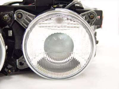 Headlights & Tail Lights - Headlights - DTM Fiberwerkz - BMW 3 Series DTM Fiberwerkz Euro Smiley Projector Headlights - E30smokedhea