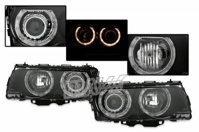 Headlights & Tail Lights - Headlights - Euro - E38 Halo Headlights