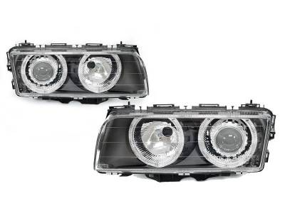 Headlights & Tail Lights - Headlights - Euro - E38 95-98 Angel Eyes Headlights