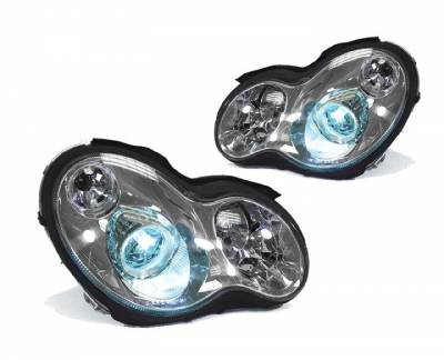 Headlights & Tail Lights - Headlights - Euro - Chrome - HID Xenon Euro Headlights