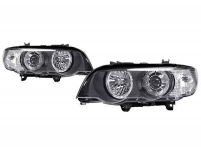 Headlights & Tail Lights - Headlights - EuroSpec - Chrome Dual Halo Euro Spec