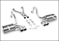 Exhaust - MagnaFlow - MagnaFlow - Magnaflow Cat-Back Exhaust System with Tru-X Crossover Pipe - 15660