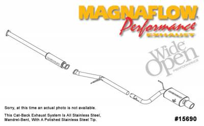 Exhaust - MagnaFlow - MagnaFlow - Magnaflow Cat-Back Exhaust System - 15690