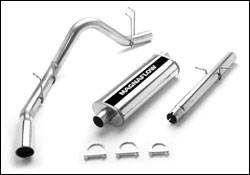 Exhaust - MagnaFlow - MagnaFlow - Magnaflow Cat-Back Exhaust System with Rear Side Exit - 15727