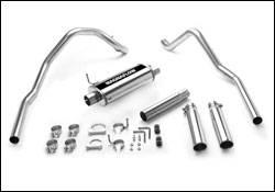 Exhaust - MagnaFlow - MagnaFlow - Magnaflow Cat-Back Exhaust System with Dual Split Rear Exit Pipes - 15735