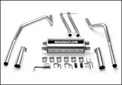 Exhaust - MagnaFlow - MagnaFlow - Magnaflow Cat-Back Exhaust System with Dual Side Exit Pipes - 15750