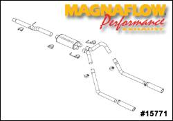 Exhaust - MagnaFlow - MagnaFlow - Magnaflow Cat-Back Exhaust System with Dual Split Rear Exit Pipes - 15771