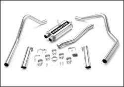 Exhaust - MagnaFlow - MagnaFlow - Magnaflow Cat-Back Exhaust System with Dual Split Rear Exit Pipes - 15773
